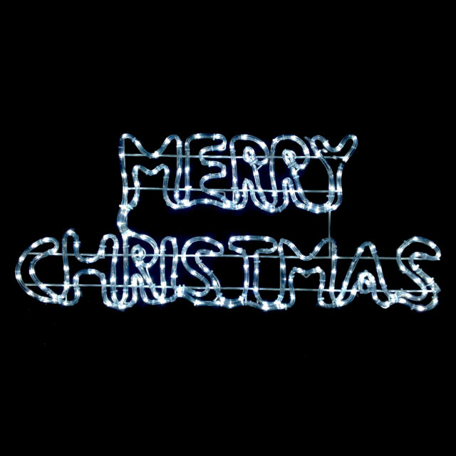 White merry christmas rope light led twinkling sign outdoor twinkling white led merry christmas rope light sign indooroutdoor decoration aloadofball Images