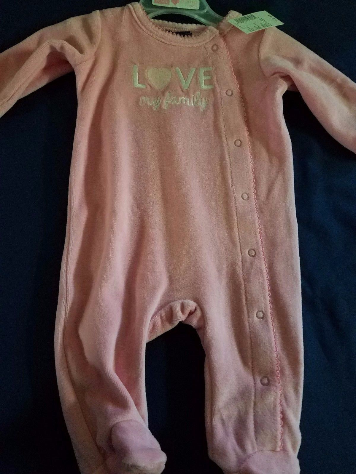 Up To 7 Lbs Baby Girl Velour Footie The Children S Place Love My