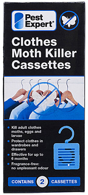 Clothes Moth Killer Cassettes Hanging Units from Pest Expert (Twinpack)