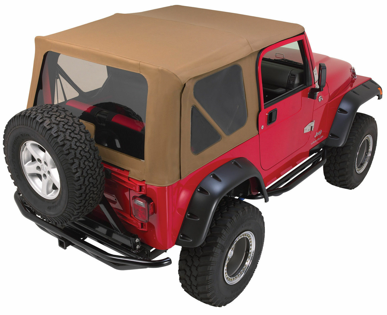 Rampage 97 06 Jeep Wrangler Replacement Soft Top With Upper Doors