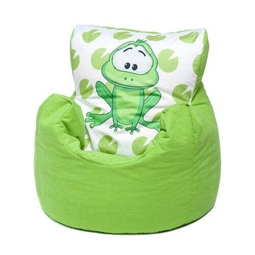 Green Frog Childrens Character Filled Beanbag Kids Bean Bag Chair Bedroom