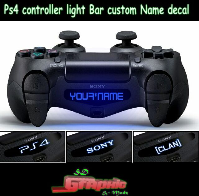 Ps4 controller light bar decal custom personalised vinyl stickers ps4 controller light bar decal custom personalised vinyl stickers your name aloadofball Image collections