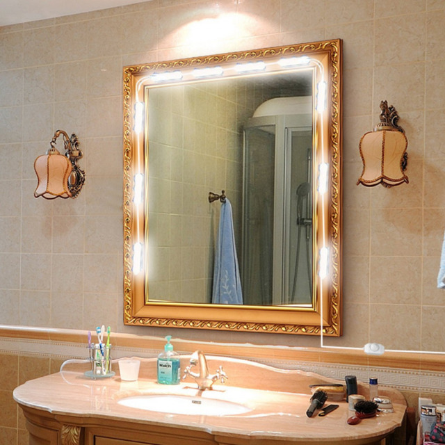Chende hollywood style led vanity mirror lights kit with dimmable vanity led mirror light kit for makeup hollywood mirror with light aloadofball Image collections