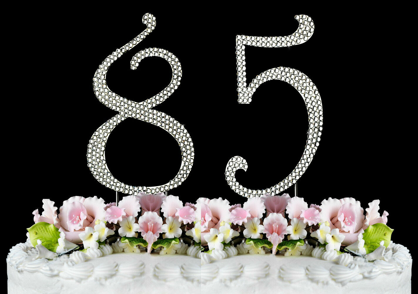 Large Rhinestone Number 85 Cake Topper 85th Birthday Party