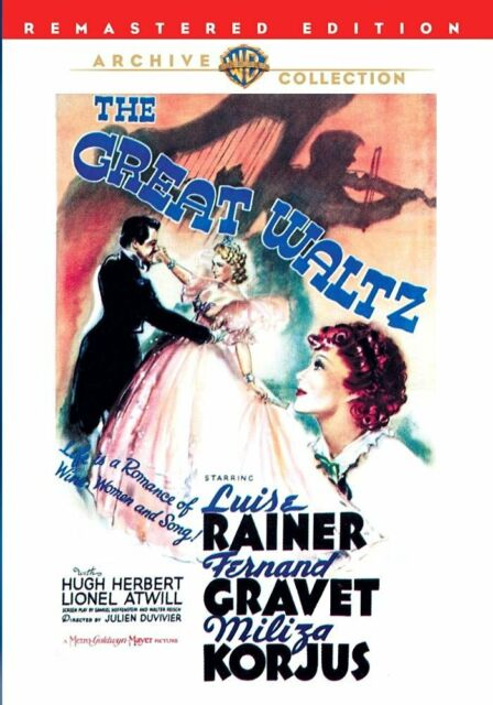 GREAT WALTZ - (1938 Luise Rainer) Region Free DVD - Sealed
