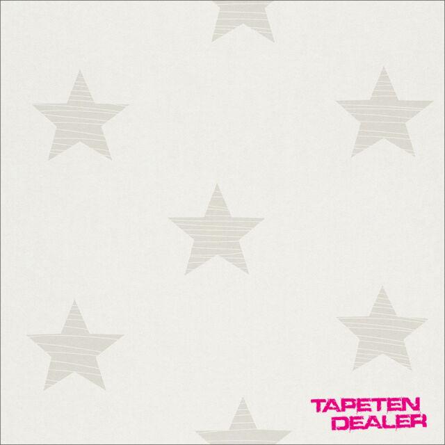 Tapete kinderzimmer sterne  Rasch Tapete 245608 Bambino XVII Kindertapete Stern Sterne ...