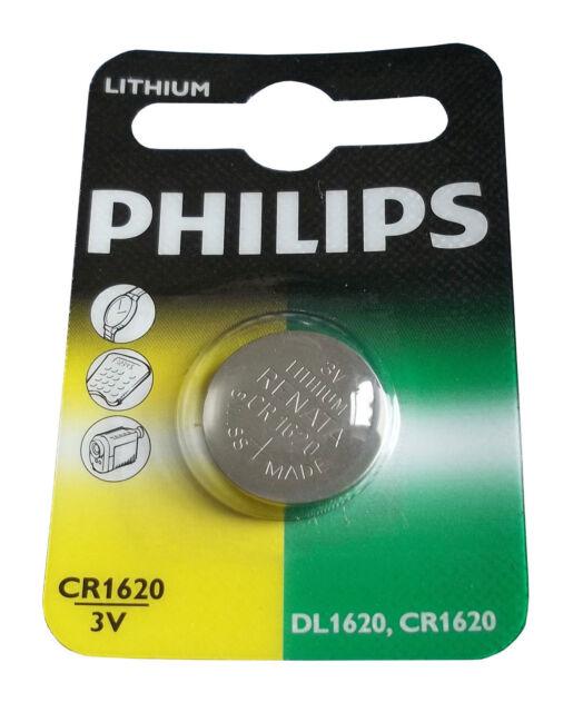 Philips Minizelle CR1616 Lithium Knopfzelle Knopfbatterie Batterie 1er Blister
