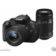 Canon EOS 700D with EF S18 - 55 mm IS II and EF S...