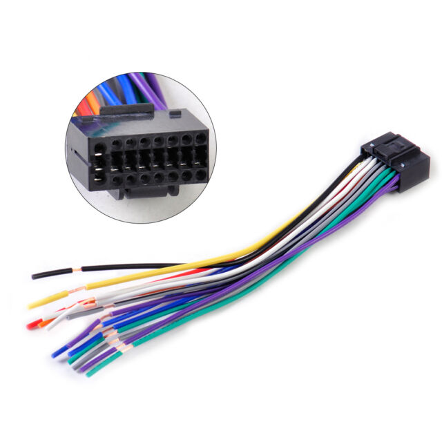 tns car radio wiring sony car radio wiring harness 16pin car radio stereo wire harness install plug cable ...