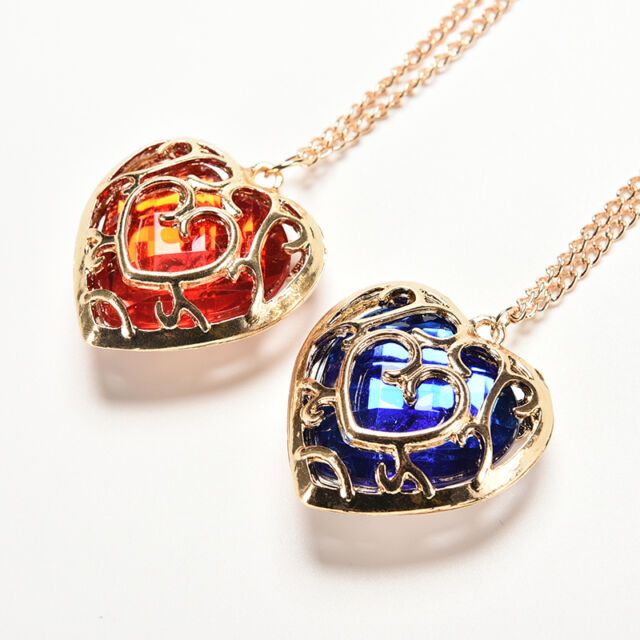 lovers pendant necklace wholesale blue fashion lot jewelry red couple item heart of legend zelda
