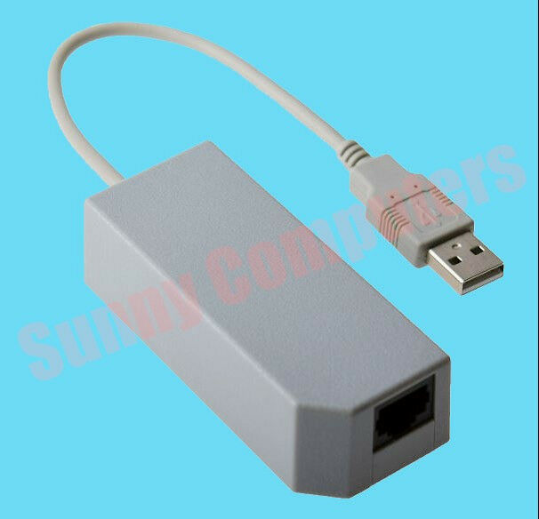 USB to Rj45 Wired Network Port Adaptor for Nintendo Wii Ethernet ...