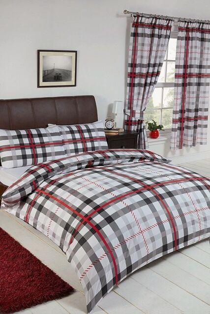 tartan bedding and curtains