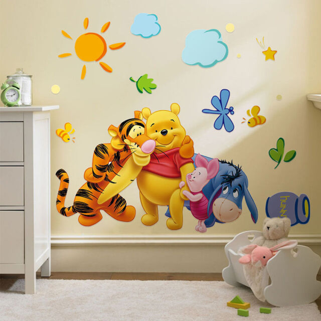 Decor The Pooh Wall Decals Kids Bedroomu0026 Baby Nursery Stickers Winnie \WSW