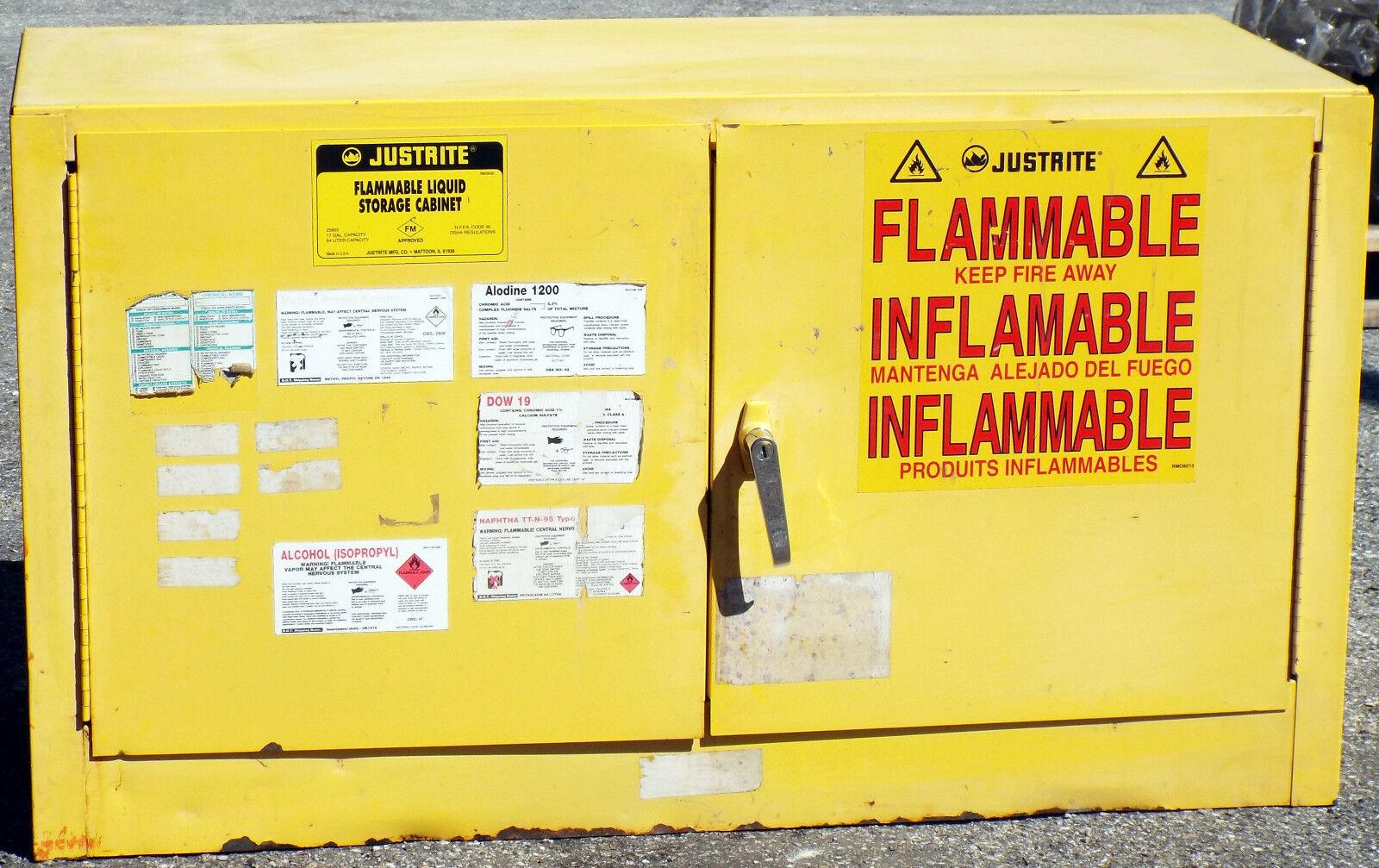 justrite 25802 industrial flammable 17-gallon liquid storage