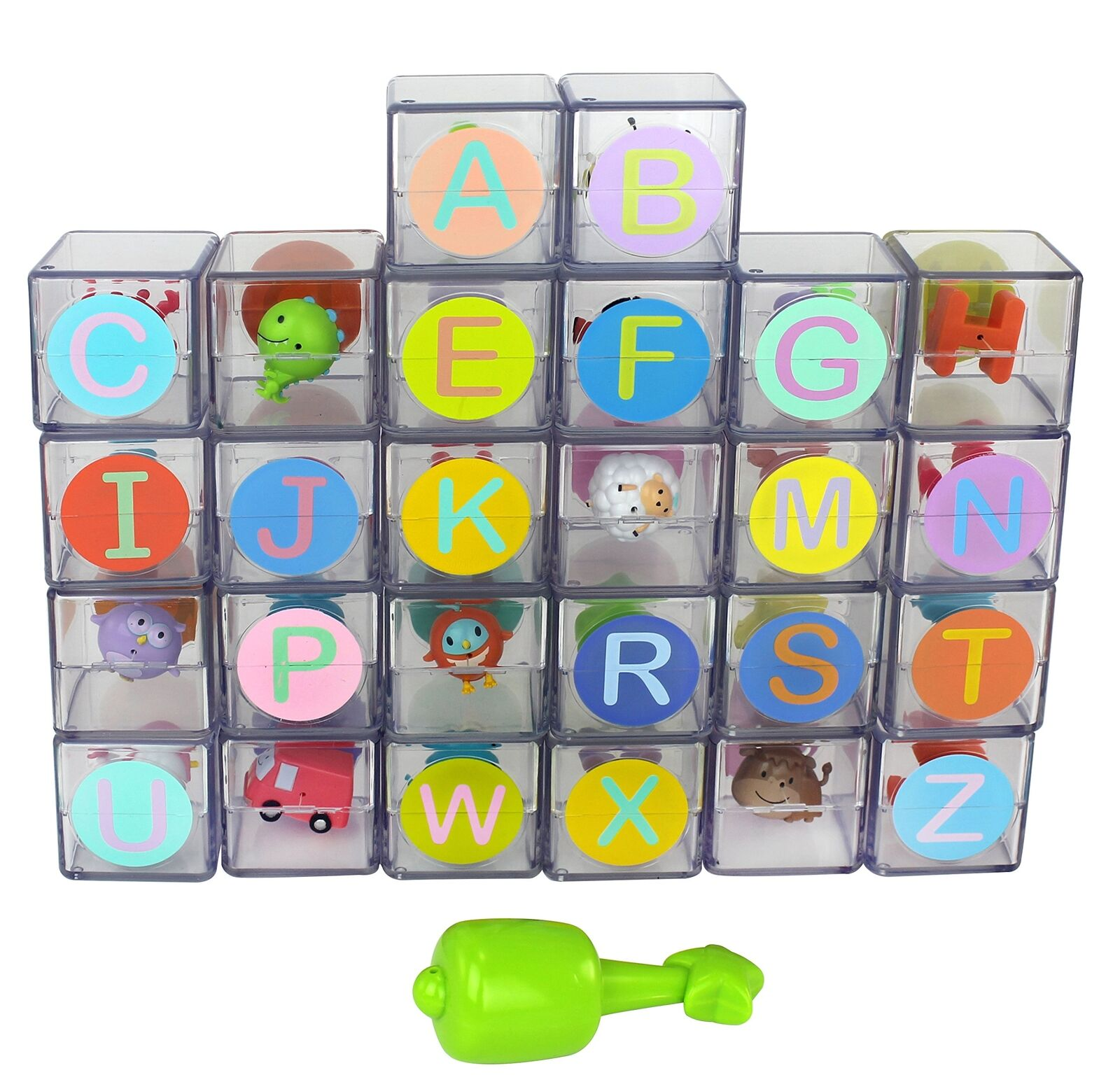 Mirari ABC Flip Flop Blocks Alphabet Interactive Learning