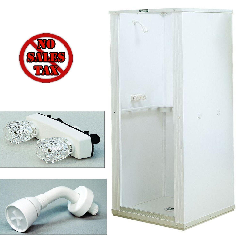 Shower Enclosure Bathroom Shower Stall Kit Standing Bath White Panel ...