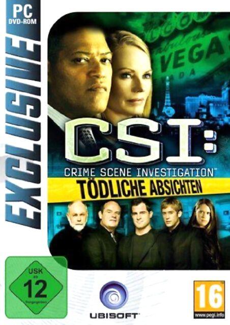 Csi Tödliche Absichten Crime Scene Investigation Game für Pc Neu Ovp