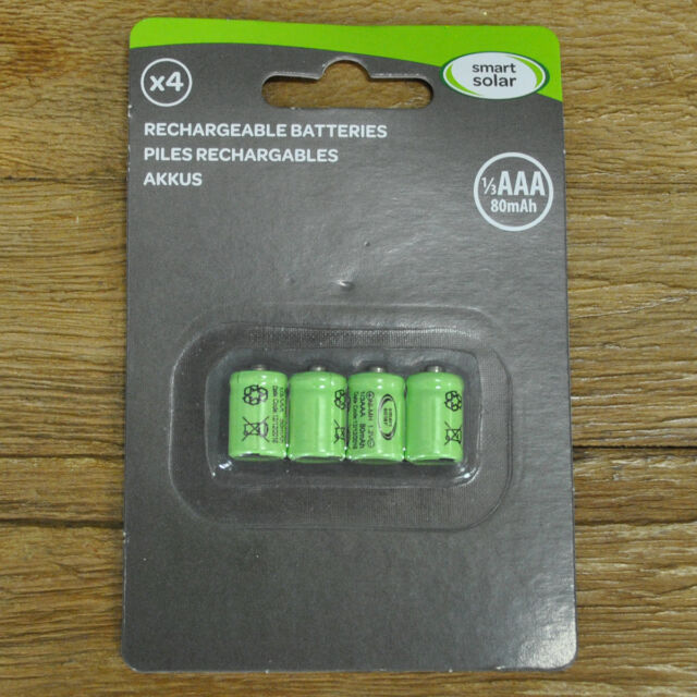 Rechargeable Batteries 1/3 AAA 80mAh For Solar Lights By Smart Solar