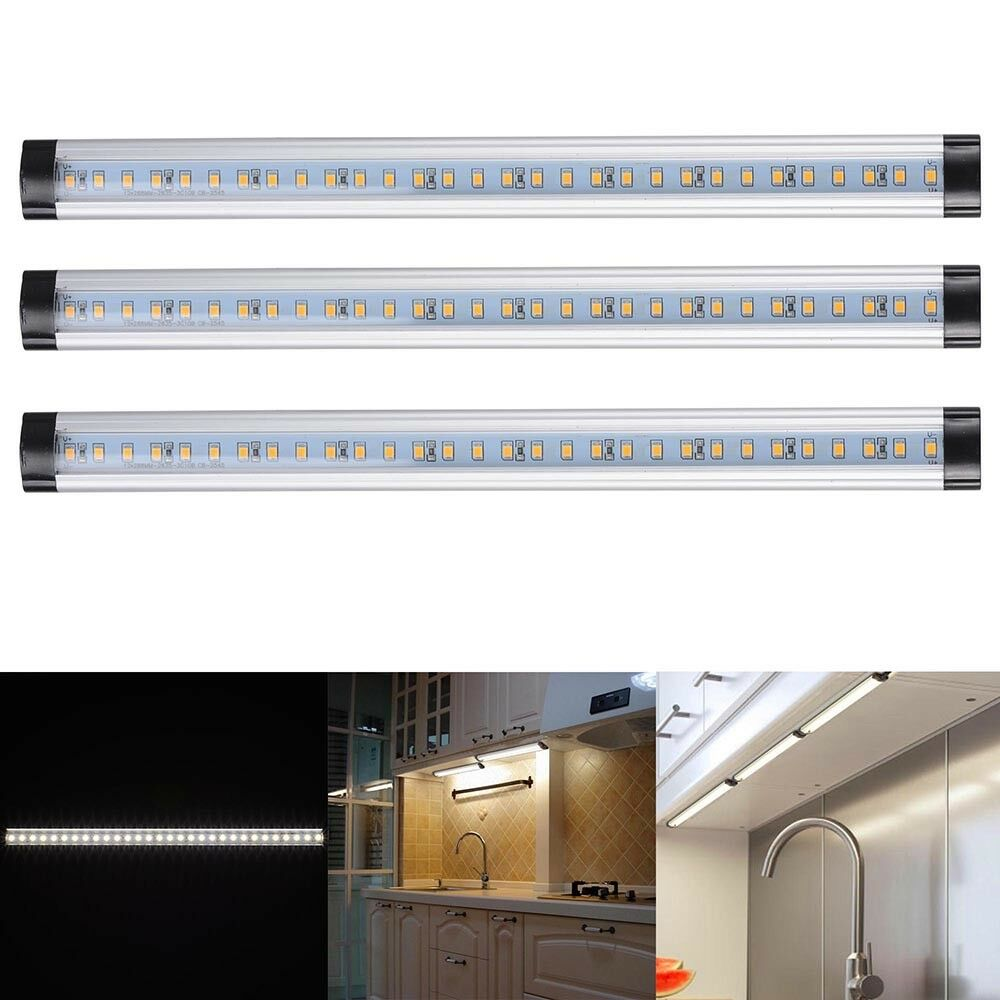 3pcs LED Kitchen Light Under Cabinet Bar Counter Lighting Kit Lamp ...