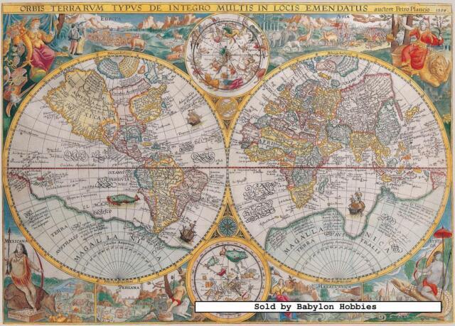 Jigsaw puzzle 1500 world map ravensburger germany ebay 1500 pcs jigsaw puzzle world map 1594 maps ravensburger 163816 gumiabroncs Images