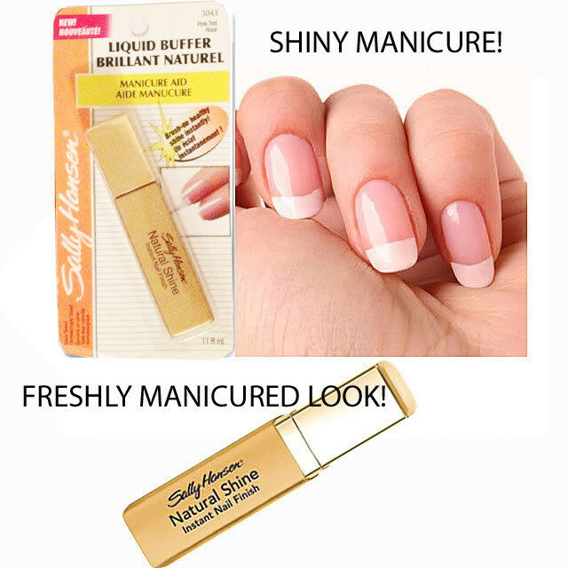 Sally Hansen Liquid Buffer Natural Shine Instant Nail Finish - Pink ...
