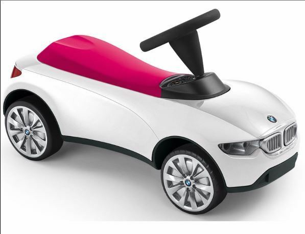 bmw baby racer iii white push car toy 80932413784 ebay. Black Bedroom Furniture Sets. Home Design Ideas
