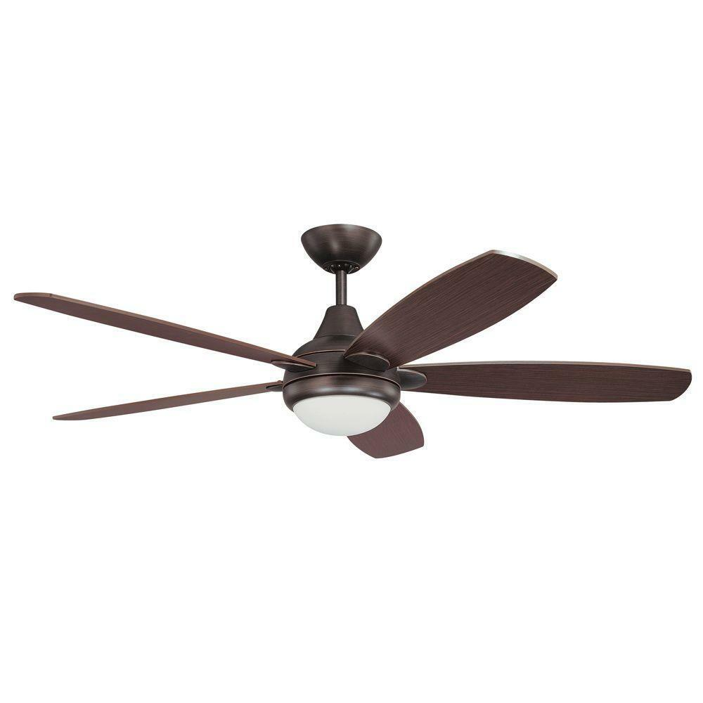 Kendal Lighting 52 Espirit 5 Blade Ceiling Fan With Wall Remote Copper Bronze
