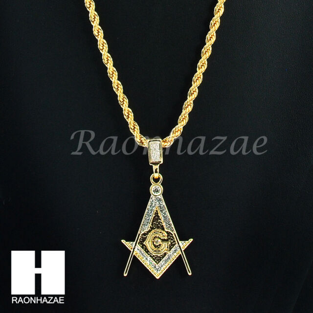 Iced out masonic freemason square g 14k gold plated 24 rope iced out masonic freemason square g 14k gold plated 24 rope necklace chain k027 aloadofball Gallery