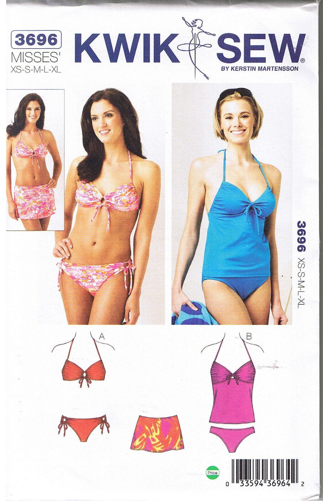 Kwik sew k3696 swimwear sewing pattern size xs s m l xl ebay picture 1 of 2 jeuxipadfo Gallery