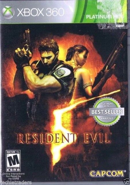 Resident Evil 5 (Microsoft Xbox 360, 2009)    Factory Sealed Cellophane