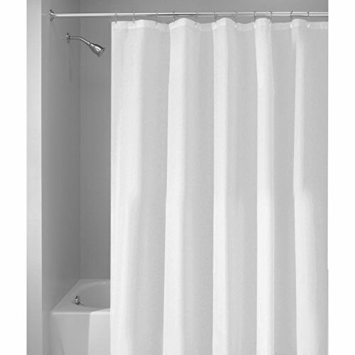 InterDesign Mildew Free Water Repellent Fabric Shower Curtain, 54 Inch By 78