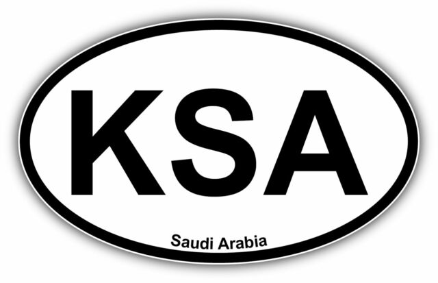 Saudi arabia vehicle country code oval car bumper window sticker decal