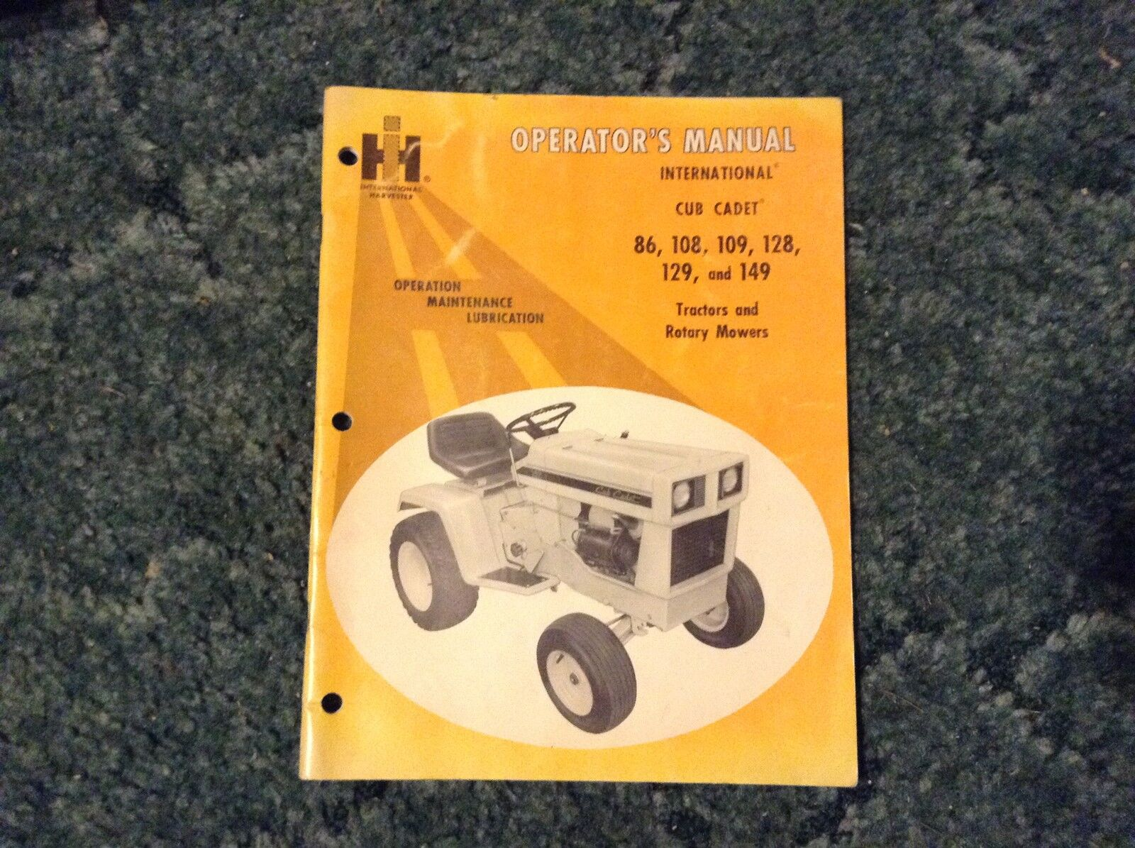 1084284r1 Is A Operators Manual For Cub Cadet 86 108 109 129 128 Wiring Diagram Mowers Ebay