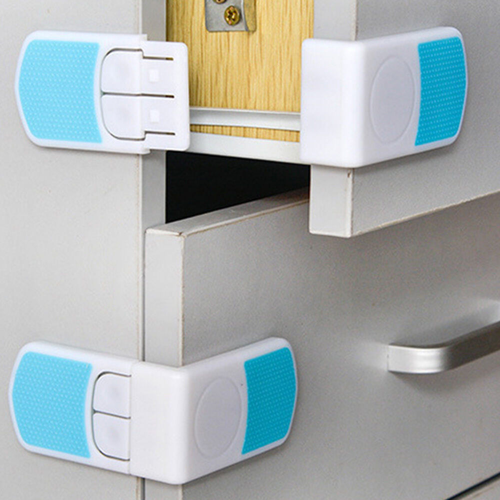 Baby Child Safe Lock Protection Drawer Cabinet Door Right Angle