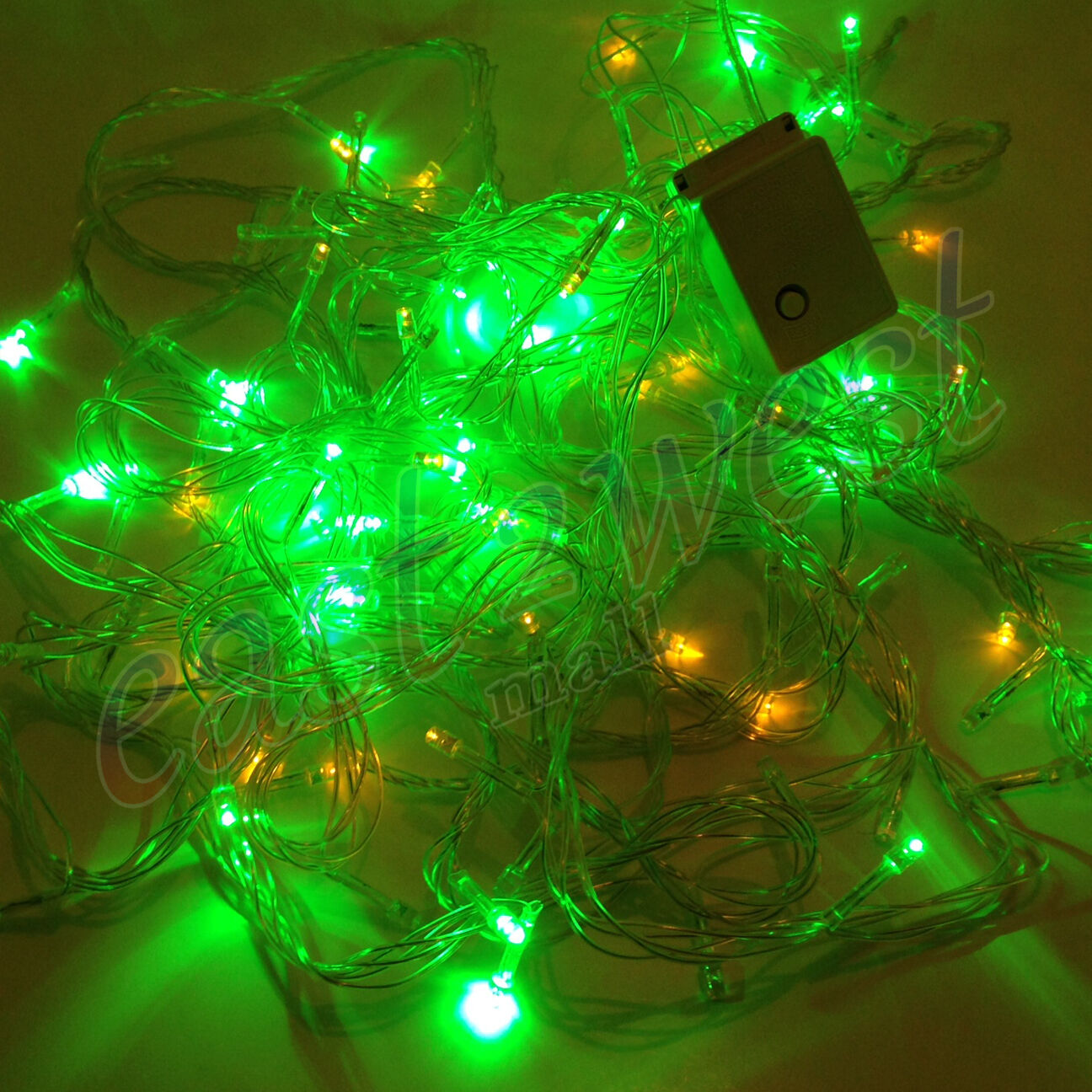 Multi Color 100 LED RGB Bulb String Strip Decoration Christmas Fairy ...