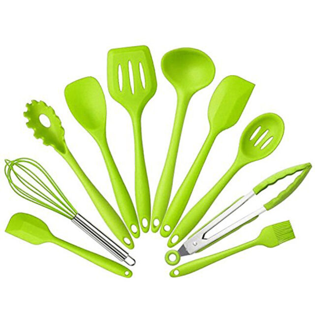 10Pcs/set Silicone Heat Resistant Kitchen Cooking Utensils Non-Stick Baking Tool