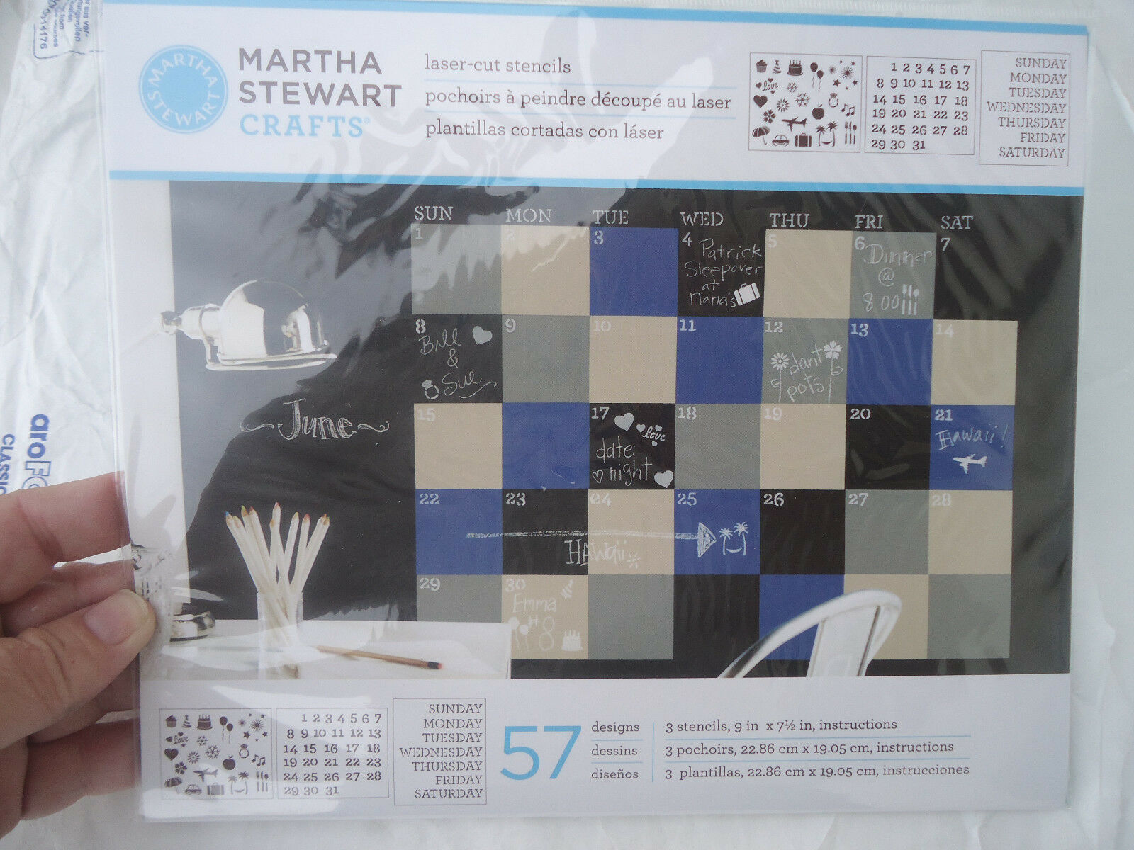 Martha Stewart Crafts Laser Cut Stencils 33548 Calendar 57 Designs ...
