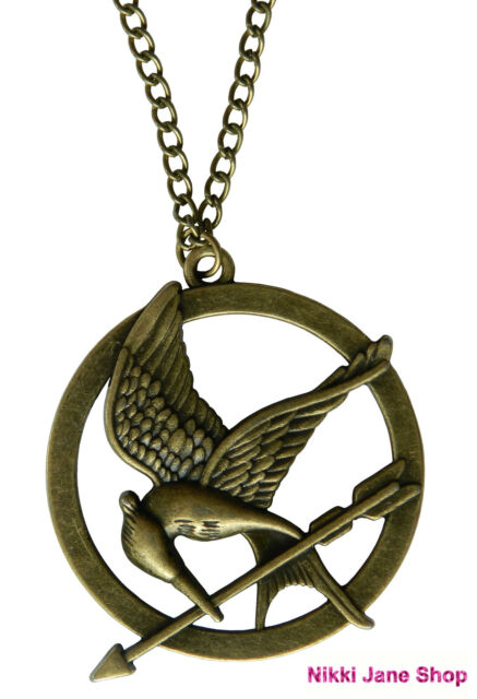 The hunger games mockingjay bird pendant necklace antique bronze the hunger games mockingjay bird pendant necklace antique bronze mozeypictures Images
