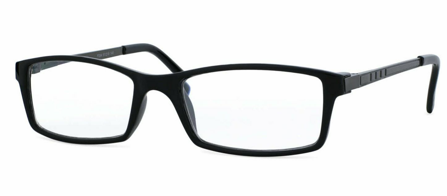 780825c9a789 Private Eyes Larz Mens Black Reading Glasses 1.25 Strength