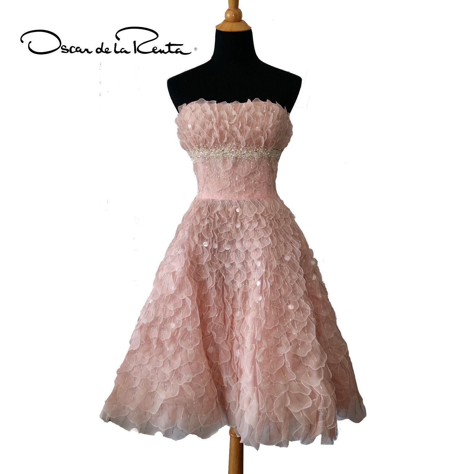 Embroidered Petal Gown Dress by Oscar De La Renta Sz 10   eBay