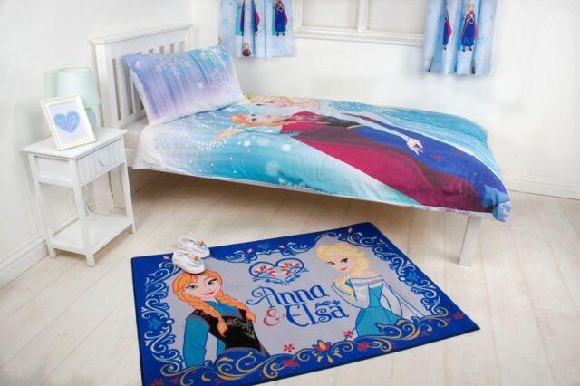 Disney Frozen Anna Elsa Kinder Teppich Spiel Kinderzimmer 133x95cm ...