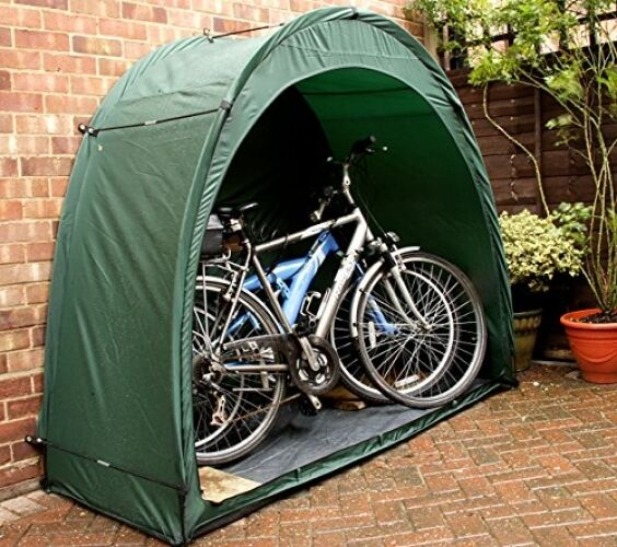 Bike tent cave tidy tent all green ebay for Bike garden storage solutions