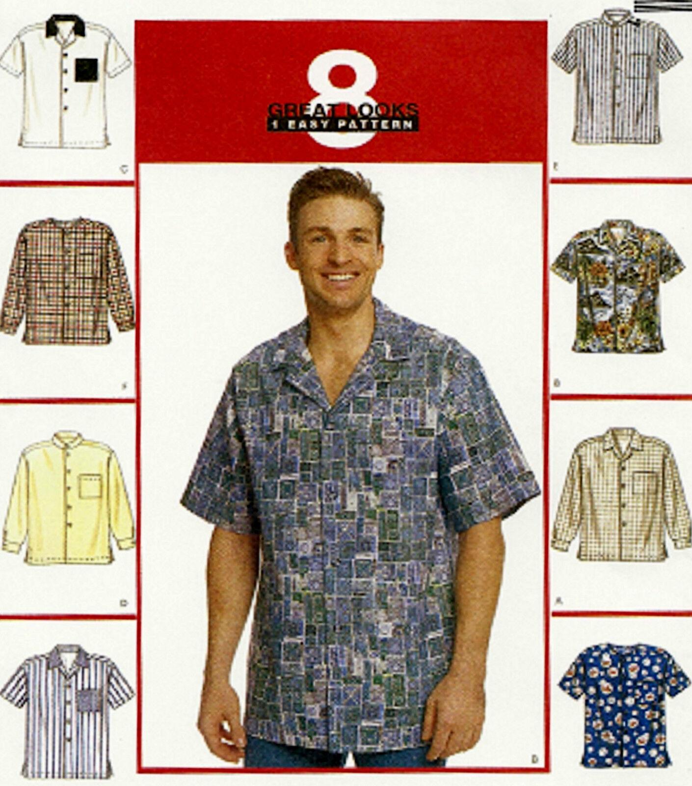 BRAND Mens Plus Size 50-52 2x Shirt Sewing Pattern McCalls 2149 | eBay