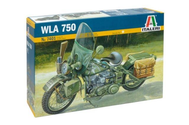 Italeri 1/9 Harley Davidson WLA 750 WWII Motorcycle # 7401