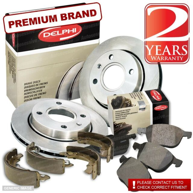 Saab 9-3 2.0 T Front Discs Pads 285mm Vented Rear Shoes 160mm 249BHP 02- CC