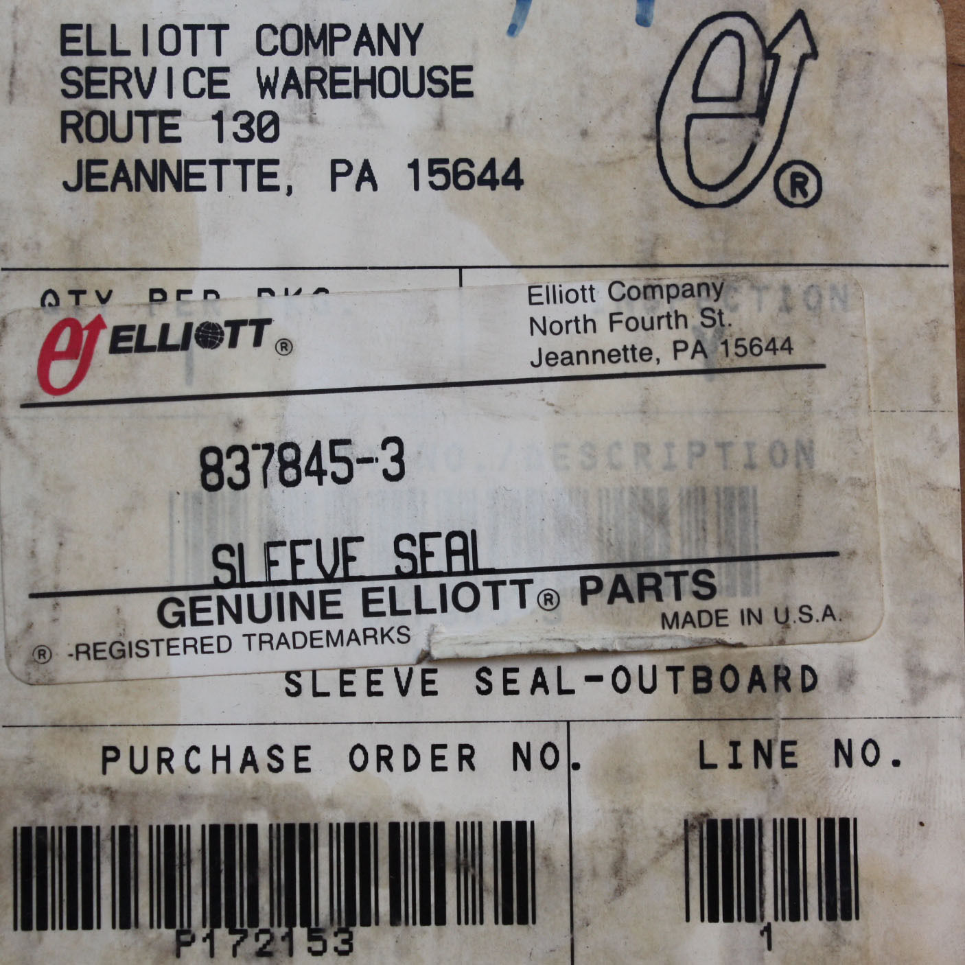 Elliott Steam Turbine Alternate 3 Sleeve Seal