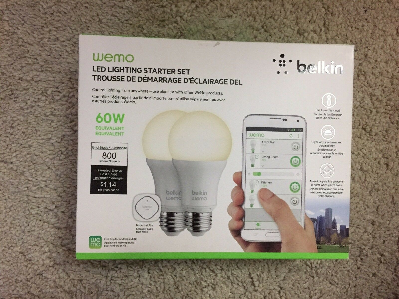 2 Sets Belkin WeMo Home Automation LED Lighting Starter Set White | eBay