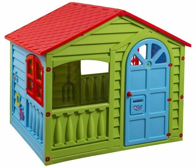 childrens garden happy house outdoorindoor summer playhouse kids wendy house - Garden Sheds For Kids