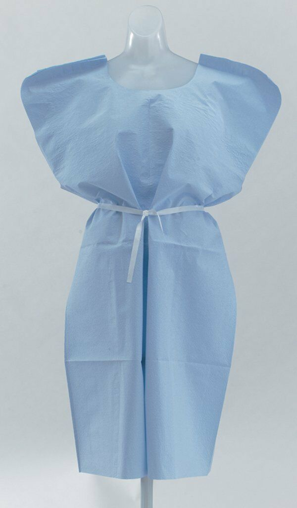 Hospital Patient Gown Disposable Front Back Opening Exam Gowns ...