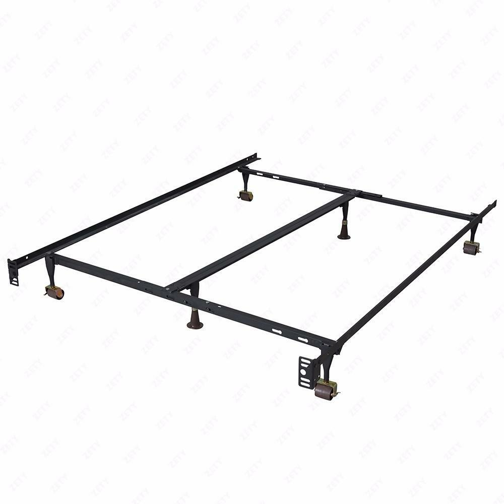 Metal Bed Frame Adjustable Queen Full Twin Size W/ Center Support ...